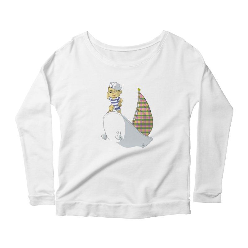 Dream of the Open Seas Women's Scoop Neck Longsleeve T-Shirt by Make2wo Artist Shop