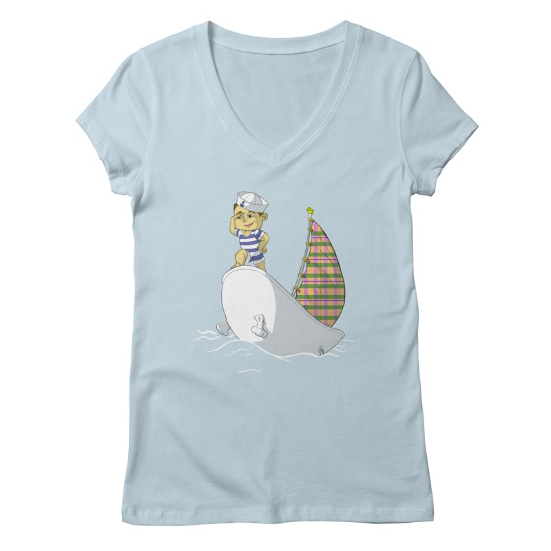 Dream of the Open Seas Women's V-Neck by Make2wo Artist Shop