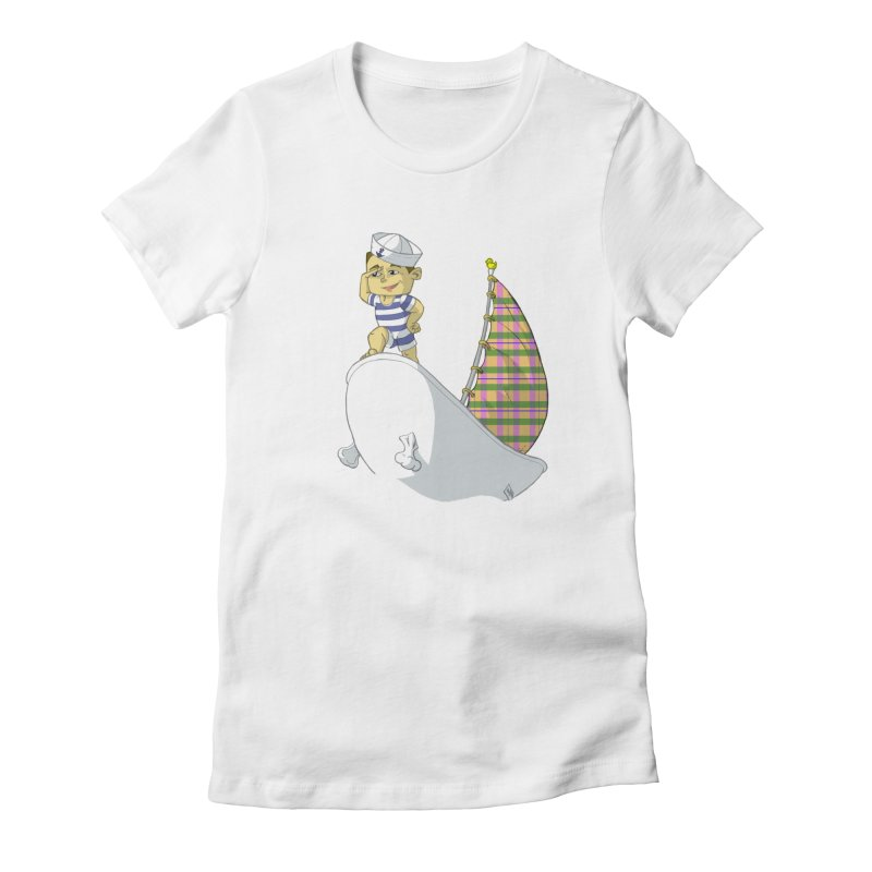 Dream of the Open Seas Women's Fitted T-Shirt by Make2wo Artist Shop