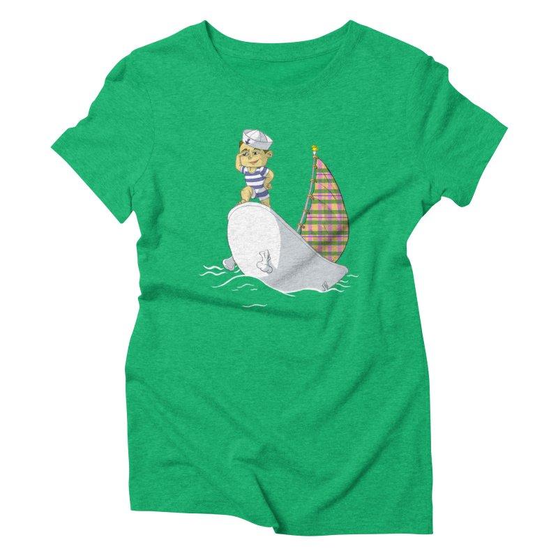 Dream of the Open Seas Women's Triblend T-shirt by Make2wo Artist Shop