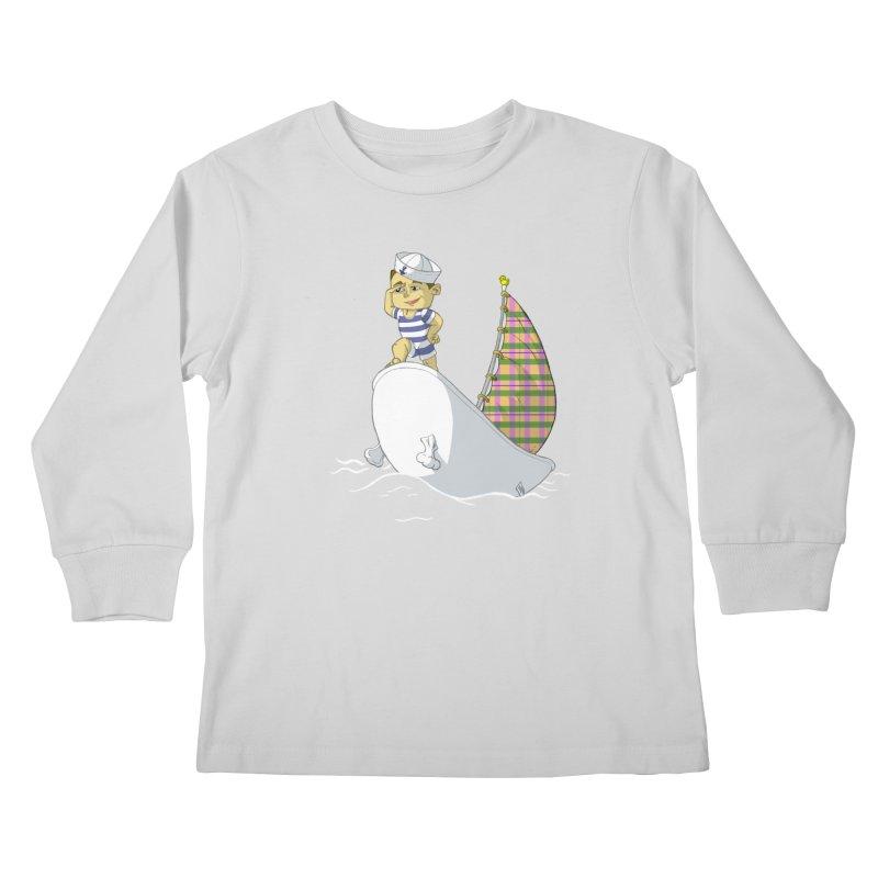 Dream of the Open Seas Kids Longsleeve T-Shirt by Make2wo Artist Shop