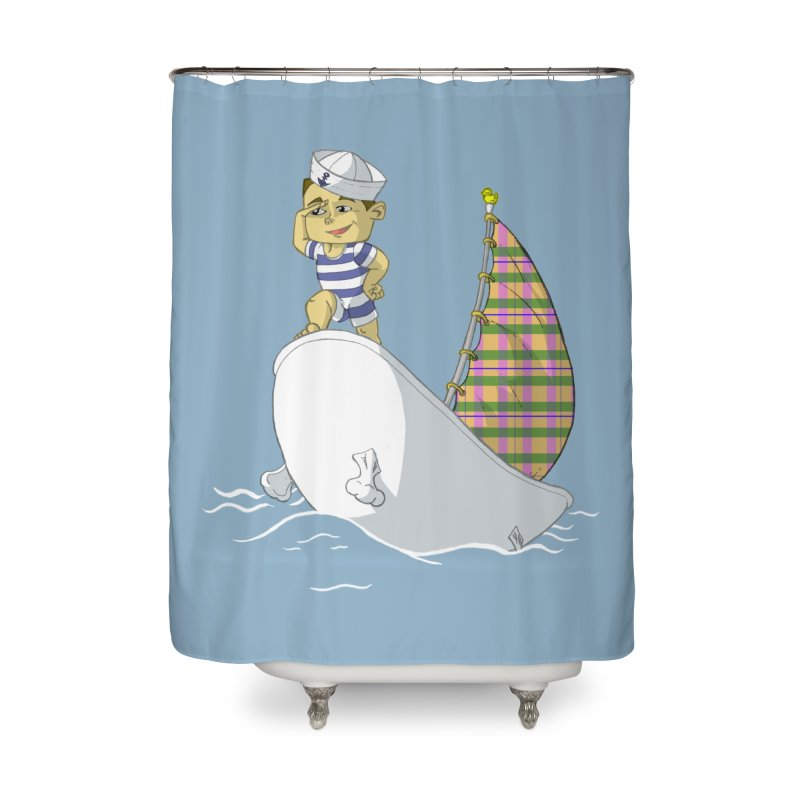 Dream of the Open Seas Home Shower Curtain by Make2wo Artist Shop