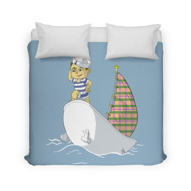 Dream of the Open Seas Home Duvet by Make2wo Artist Shop