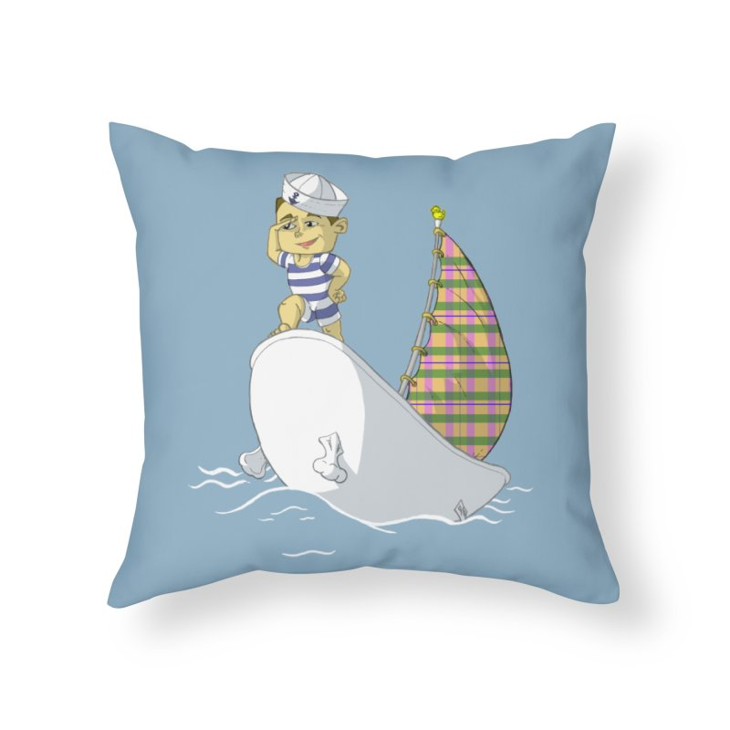 Dream of the Open Seas Home Throw Pillow by Make2wo Artist Shop