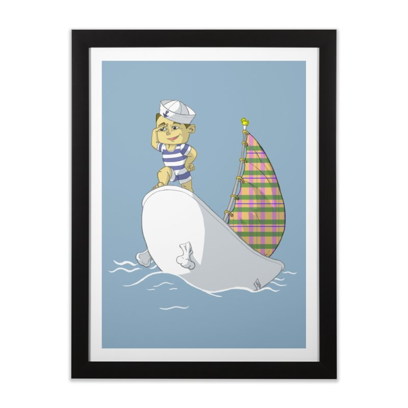 Dream of the Open Seas Home Framed Fine Art Print by Make2wo Artist Shop