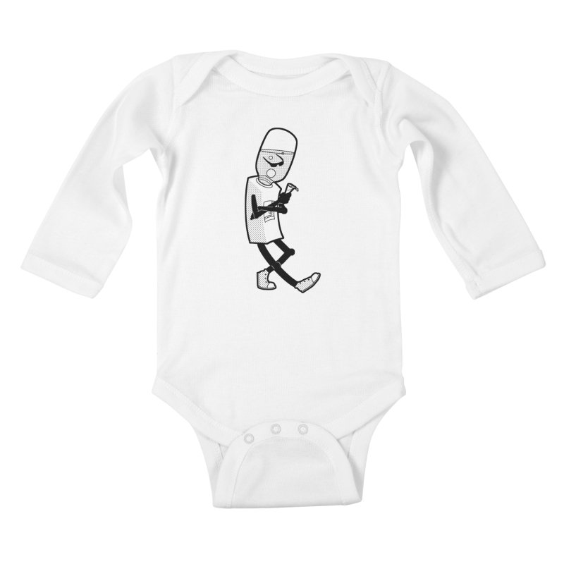 Cooler, Water Cooler Kids Baby Longsleeve Bodysuit by Make2wo Artist Shop