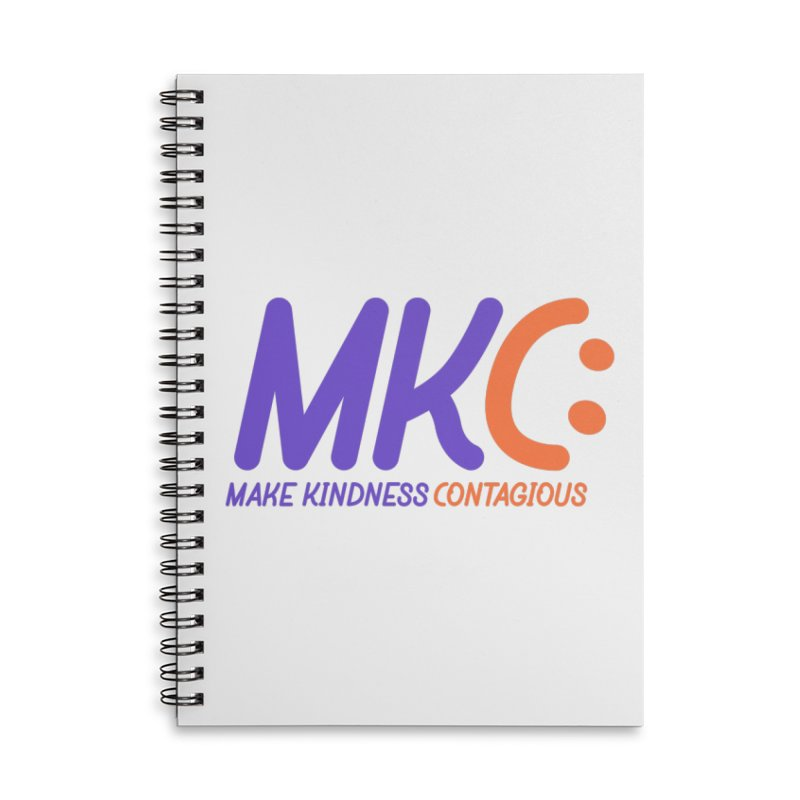 MKC Logo Apparel and Accessories Accessories Lined Spiral Notebook by MakeKindnessContagious's Artist Shop