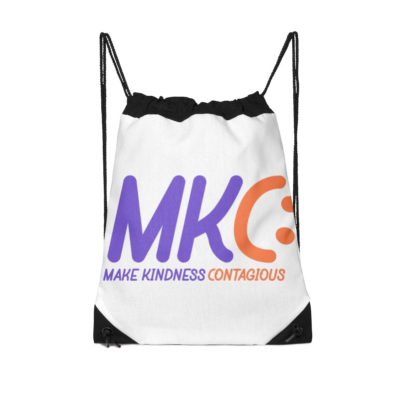 MKC Logo Apparel and Accessories Accessories Drawstring Bag Bag by MakeKindnessContagious's Artist Shop