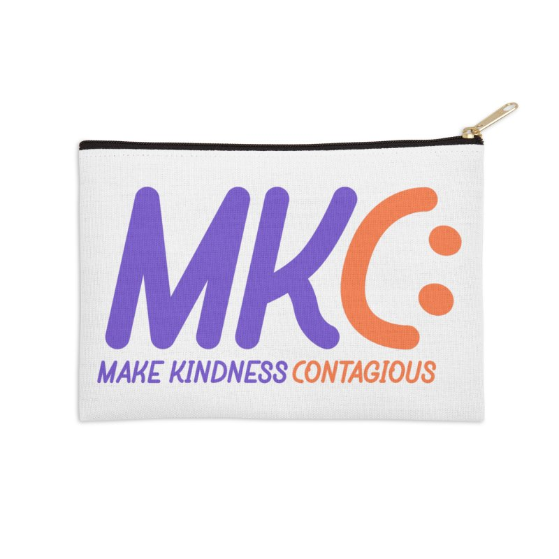 MKC Logo Apparel and Accessories Accessories Zip Pouch by MakeKindnessContagious's Artist Shop