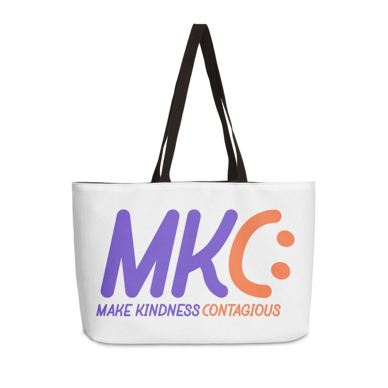 MKC Logo Apparel and Accessories Accessories Weekender Bag Bag by MakeKindnessContagious's Artist Shop