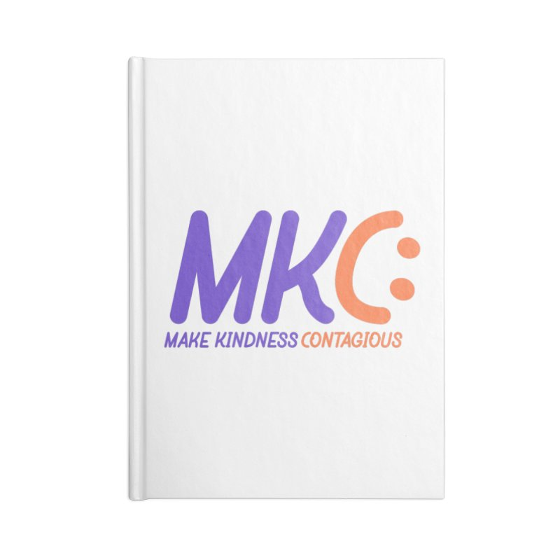 MKC Logo Apparel and Accessories Accessories Lined Journal Notebook by MakeKindnessContagious's Artist Shop