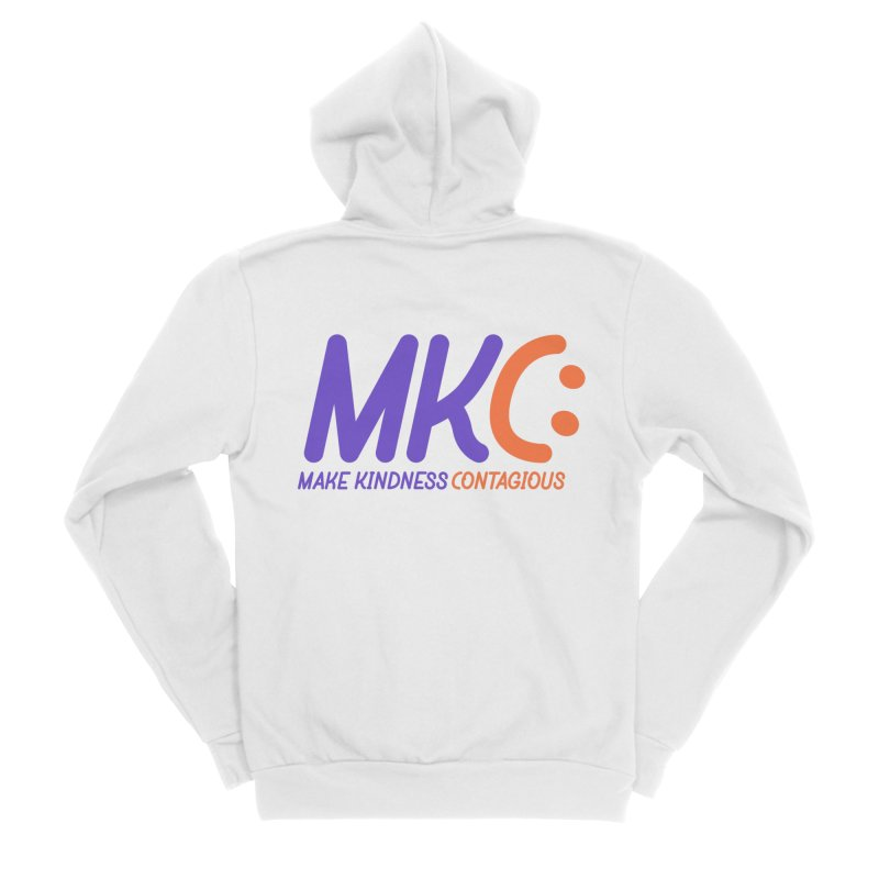 MKC Logo Apparel and Accessories Women's Sponge Fleece Zip-Up Hoody by MakeKindnessContagious's Artist Shop