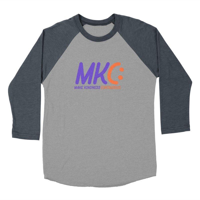 MKC Logo Apparel and Accessories Men's Baseball Triblend Longsleeve T-Shirt by MakeKindnessContagious's Artist Shop
