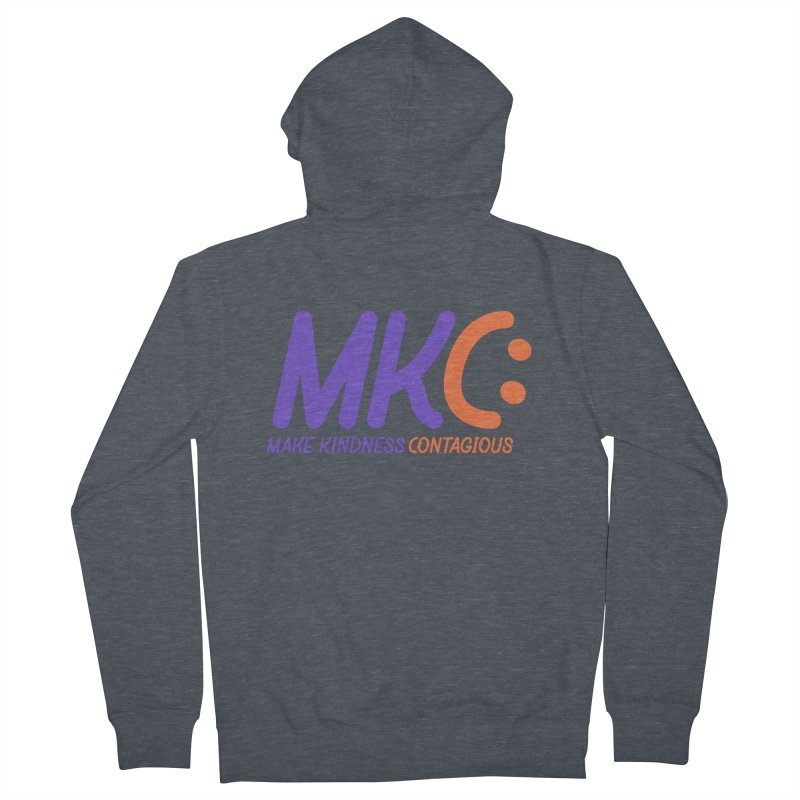 MKC Logo Apparel and Accessories Women's French Terry Zip-Up Hoody by MakeKindnessContagious's Artist Shop