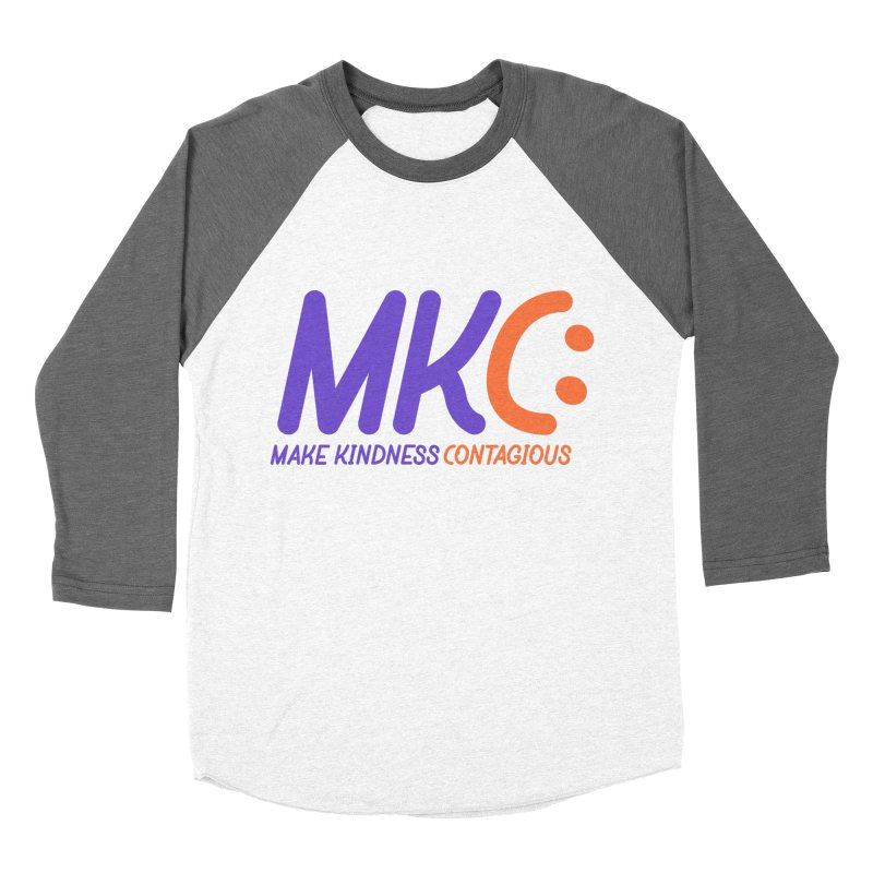 MKC Logo Apparel and Accessories Men's Baseball Triblend Longsleeve T-Shirt by MakeKindnessContagious's Artist Shop