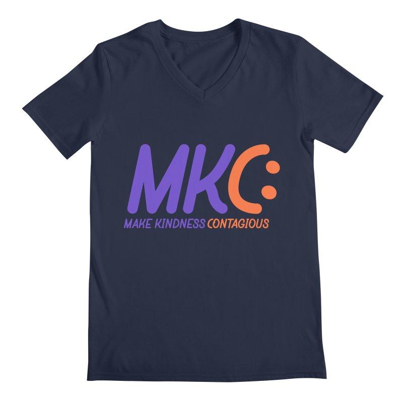 MKC Logo Apparel and Accessories Men's Regular V-Neck by MakeKindnessContagious's Artist Shop
