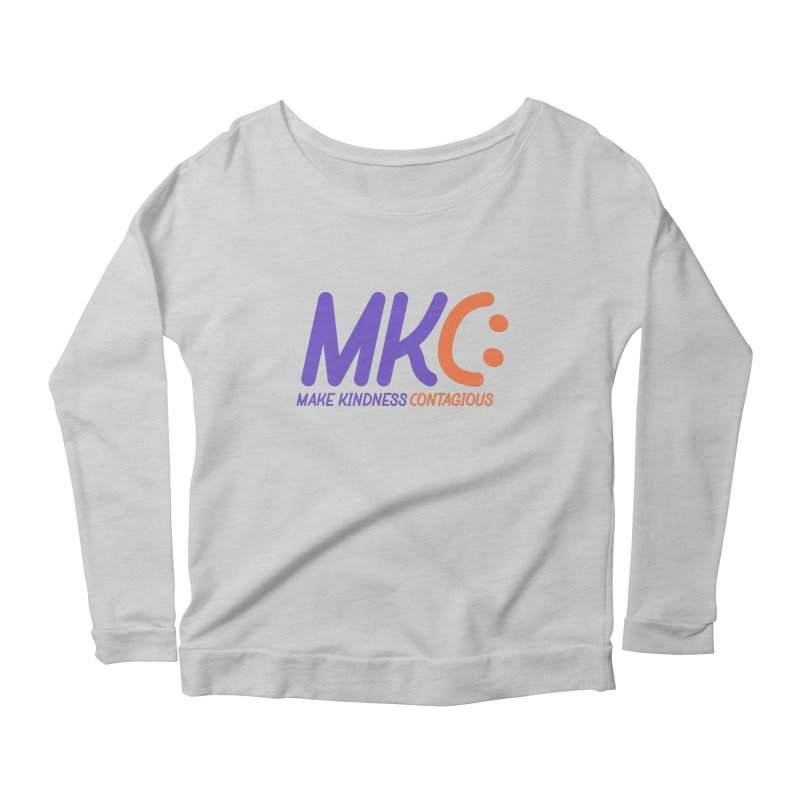 MKC Logo Apparel and Accessories Women's Scoop Neck Longsleeve T-Shirt by MakeKindnessContagious's Artist Shop