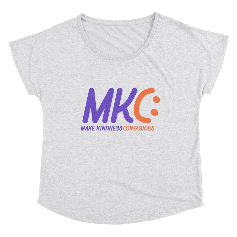 MKC Logo Apparel and Accessories Women's Dolman Scoop Neck by MakeKindnessContagious's Artist Shop