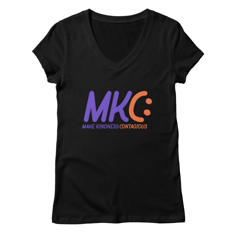 MKC Logo Apparel and Accessories Women's Regular V-Neck by MakeKindnessContagious's Artist Shop
