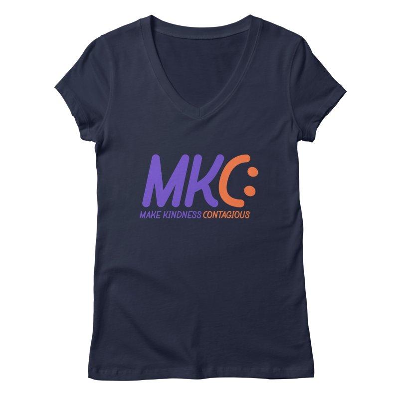 MKC Logo Apparel and Accessories Women's Regular V-Neck by MakeKindnessContagious's Artist Shop