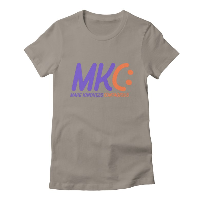 MKC Logo Apparel and Accessories Women's Fitted T-Shirt by MakeKindnessContagious's Artist Shop