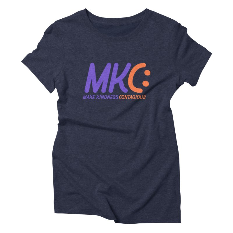 MKC Logo Apparel and Accessories Women's Triblend T-Shirt by MakeKindnessContagious's Artist Shop