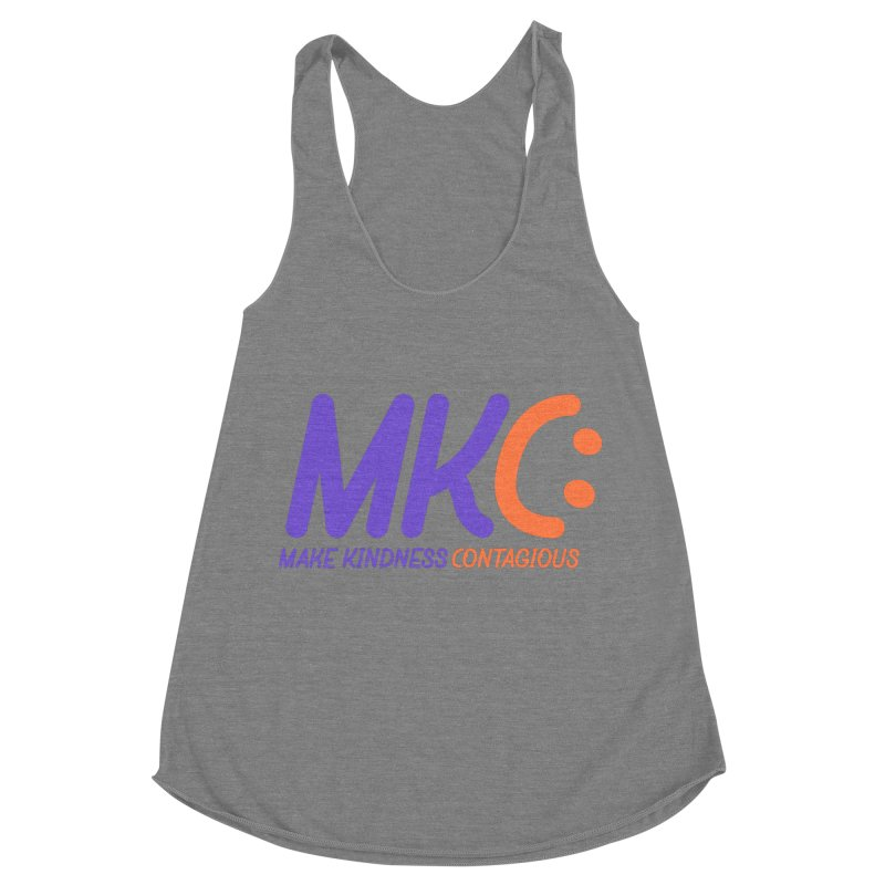 MKC Logo Apparel and Accessories Women's Racerback Triblend Tank by MakeKindnessContagious's Artist Shop