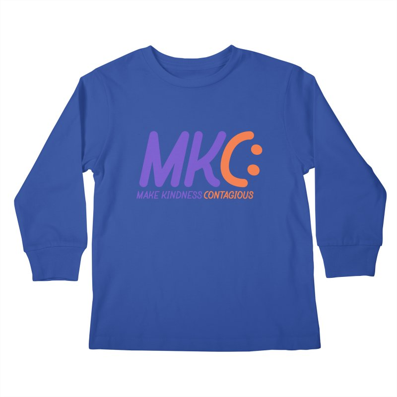 MKC Logo Apparel and Accessories Kids Longsleeve T-Shirt by MakeKindnessContagious's Artist Shop