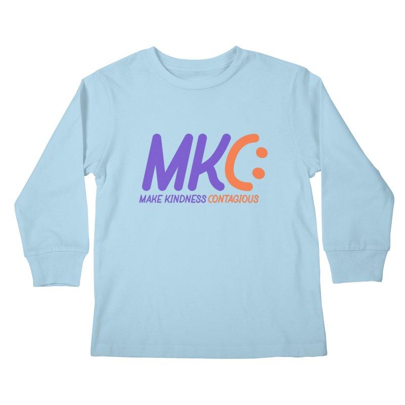 MKC Logo Apparel and Accessories Kids Longsleeve T-Shirt by MakeKindnessContagious's Artist Shop