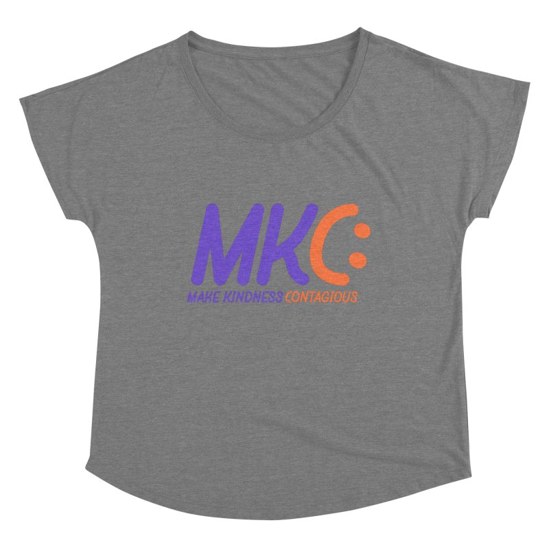 MKC Logo Apparel and Accessories Women's Scoop Neck by MakeKindnessContagious's Artist Shop