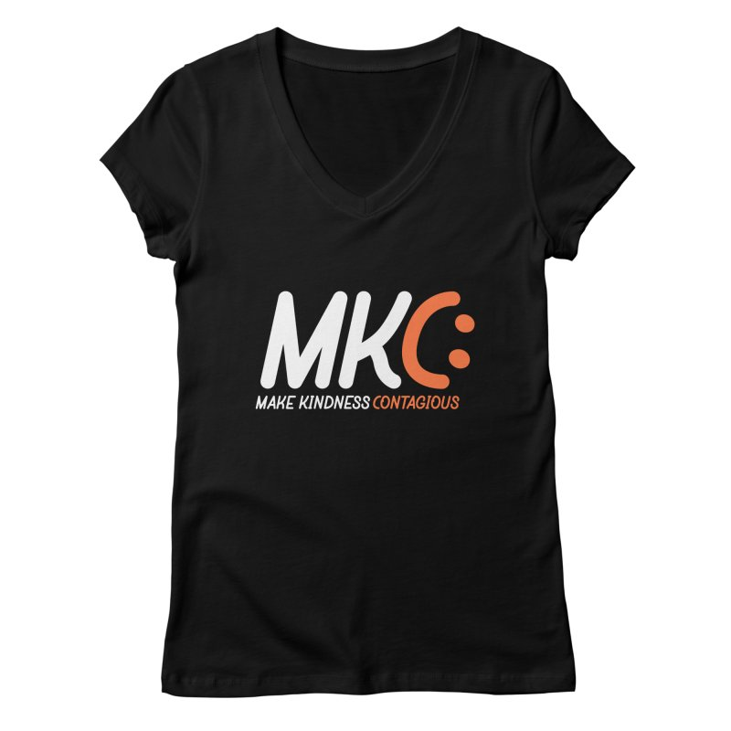 MKC Women's V-Neck by MakeKindnessContagious's Artist Shop