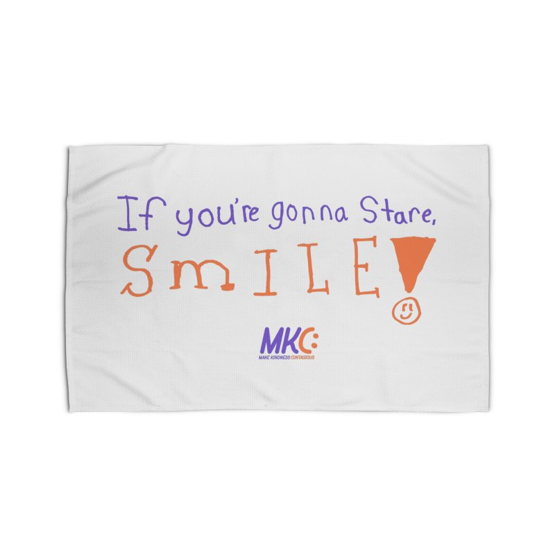 If You're Gonna Stare, Smile Home Rug by MakeKindnessContagious's Artist Shop