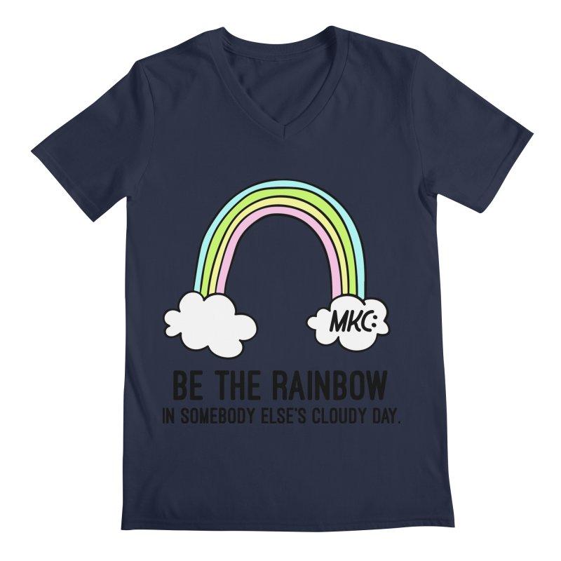 Be the Rainbow Men's Regular V-Neck by MakeKindnessContagious's Artist Shop