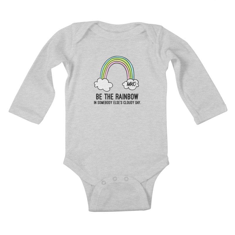 Be the Rainbow Kids Baby Longsleeve Bodysuit by MakeKindnessContagious's Artist Shop