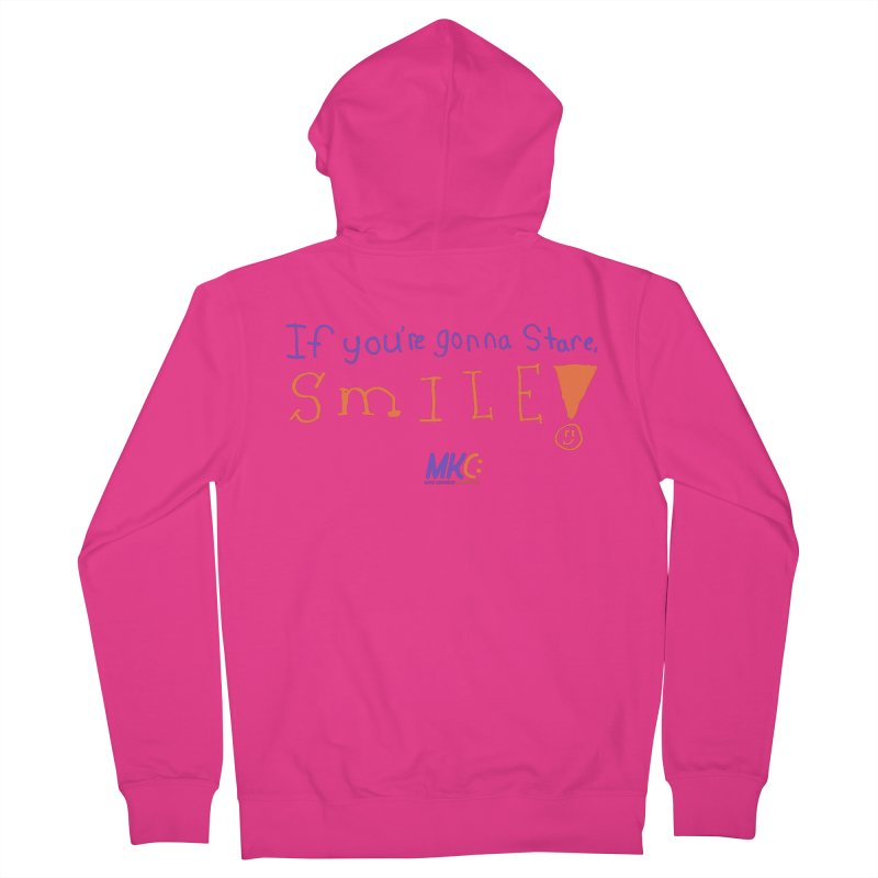 If you are gonna stare, SMILE! Men's Zip-Up Hoody by MakeKindnessContagious's Artist Shop