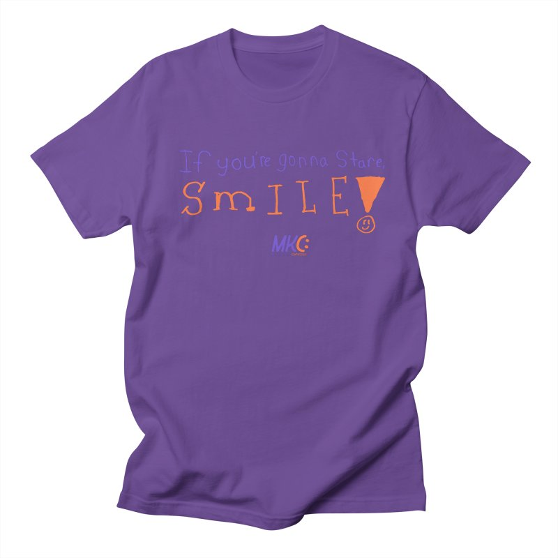 If you are gonna stare, SMILE! Men's Regular T-Shirt by MakeKindnessContagious's Artist Shop