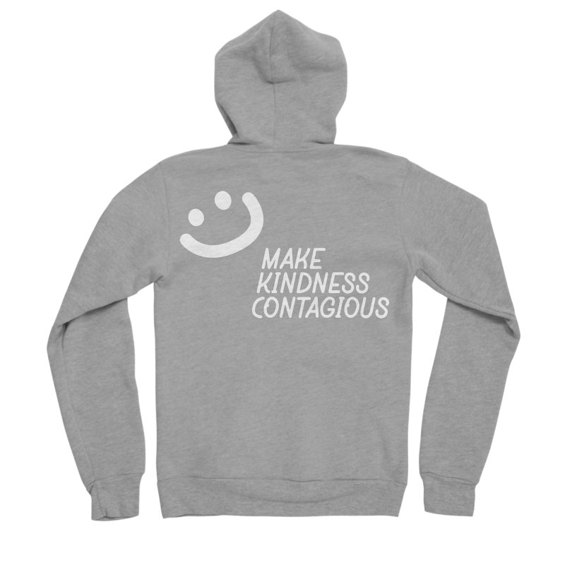 A simple smile Women's Sponge Fleece Zip-Up Hoody by MakeKindnessContagious's Artist Shop