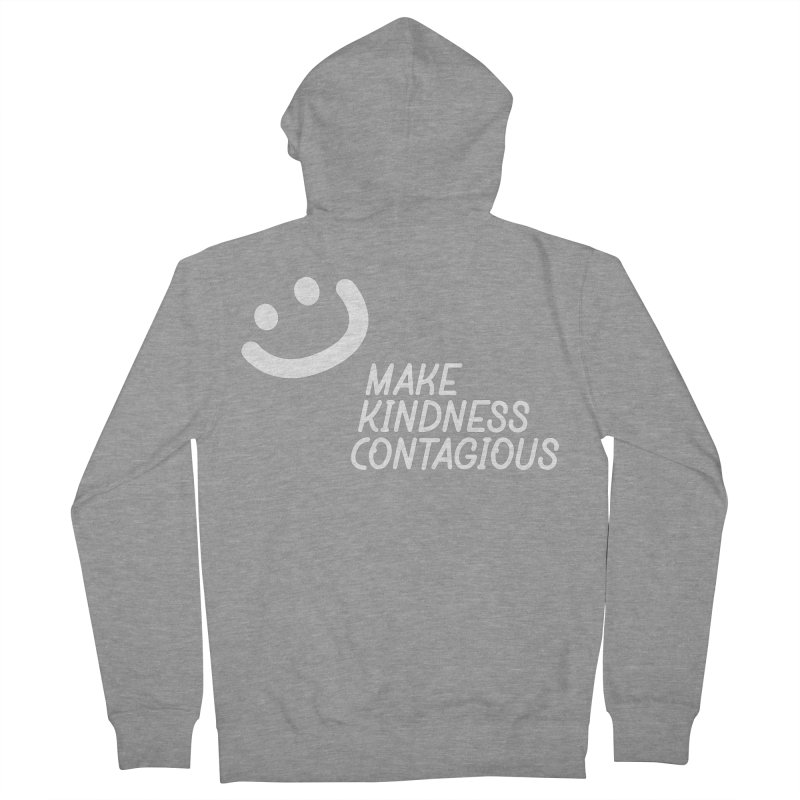 A simple smile Women's French Terry Zip-Up Hoody by MakeKindnessContagious's Artist Shop