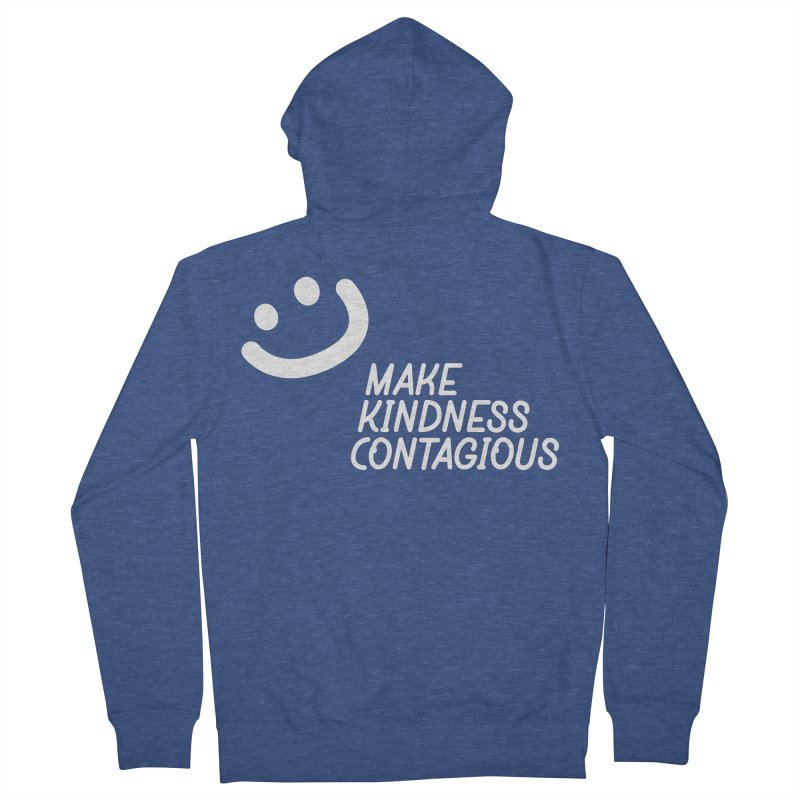 A simple smile Men's French Terry Zip-Up Hoody by MakeKindnessContagious's Artist Shop
