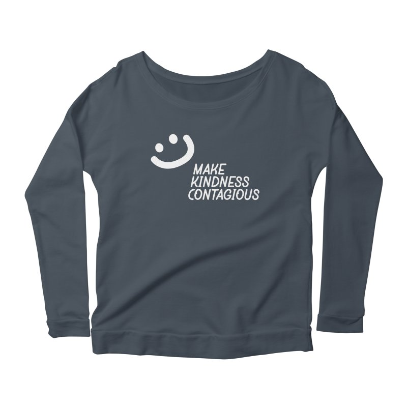 A simple smile Women's Scoop Neck Longsleeve T-Shirt by MakeKindnessContagious's Artist Shop