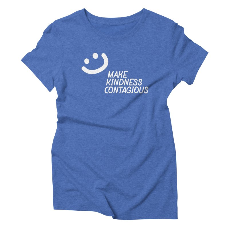 A simple smile Women's Triblend T-Shirt by MakeKindnessContagious's Artist Shop