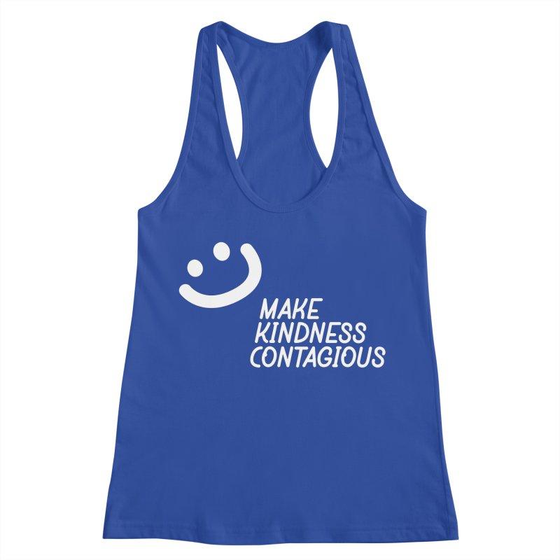 A simple smile Women's Racerback Tank by MakeKindnessContagious's Artist Shop