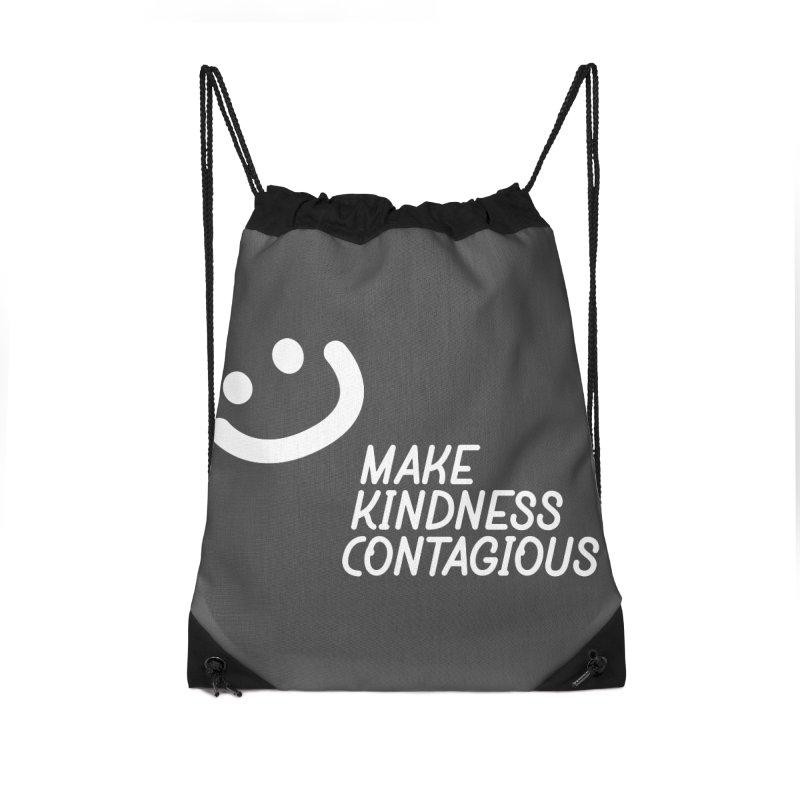 A simple smile Accessories Drawstring Bag Bag by MakeKindnessContagious's Artist Shop