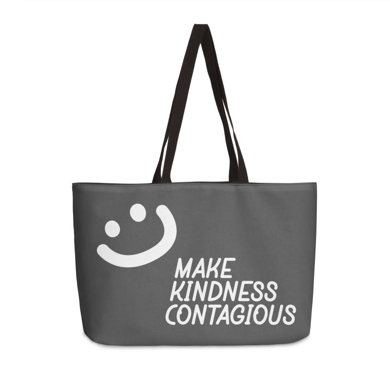 A simple smile Accessories Weekender Bag Bag by MakeKindnessContagious's Artist Shop