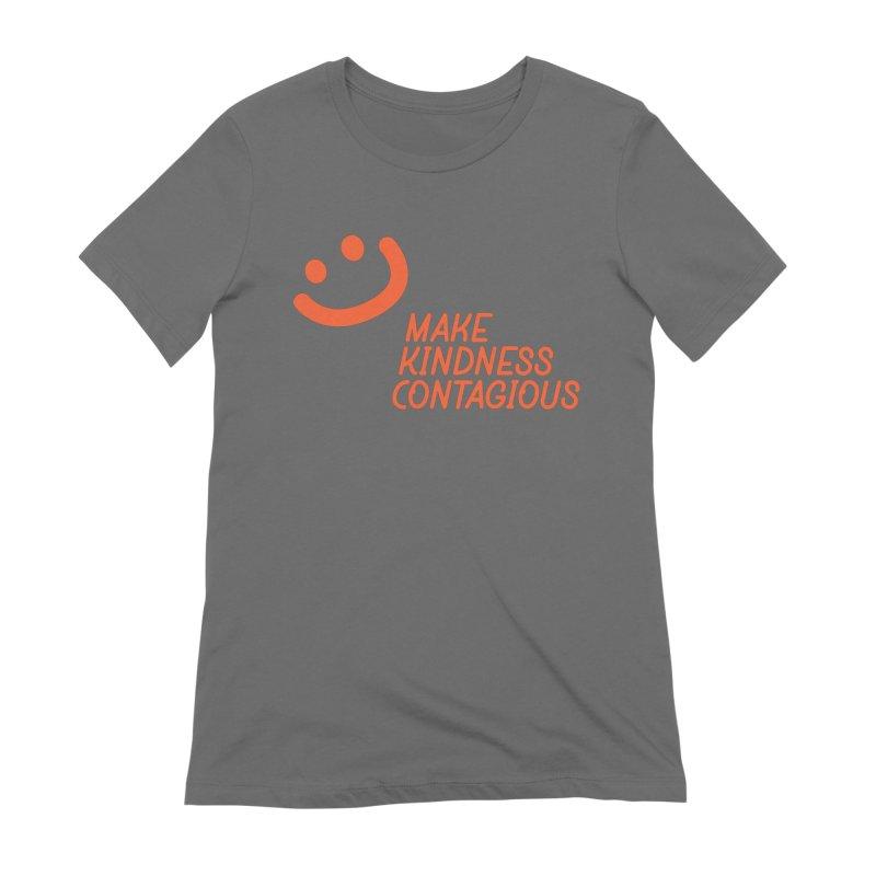 Simple Smile orange Women's Extra Soft T-Shirt by MakeKindnessContagious's Artist Shop