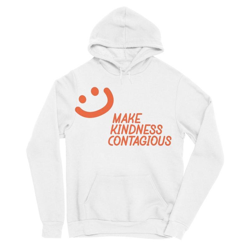 Simple Smile orange Men's Sponge Fleece Pullover Hoody by MakeKindnessContagious's Artist Shop