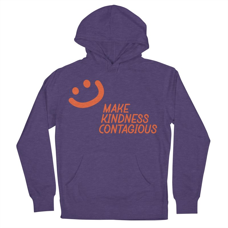 Simple Smile orange Women's French Terry Pullover Hoody by MakeKindnessContagious's Artist Shop