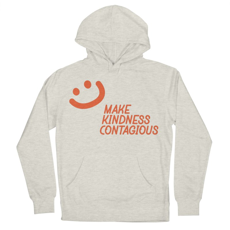Simple Smile orange Men's French Terry Pullover Hoody by MakeKindnessContagious's Artist Shop