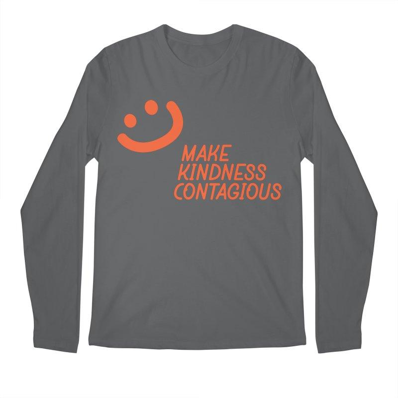 Simple Smile orange Men's Regular Longsleeve T-Shirt by MakeKindnessContagious's Artist Shop