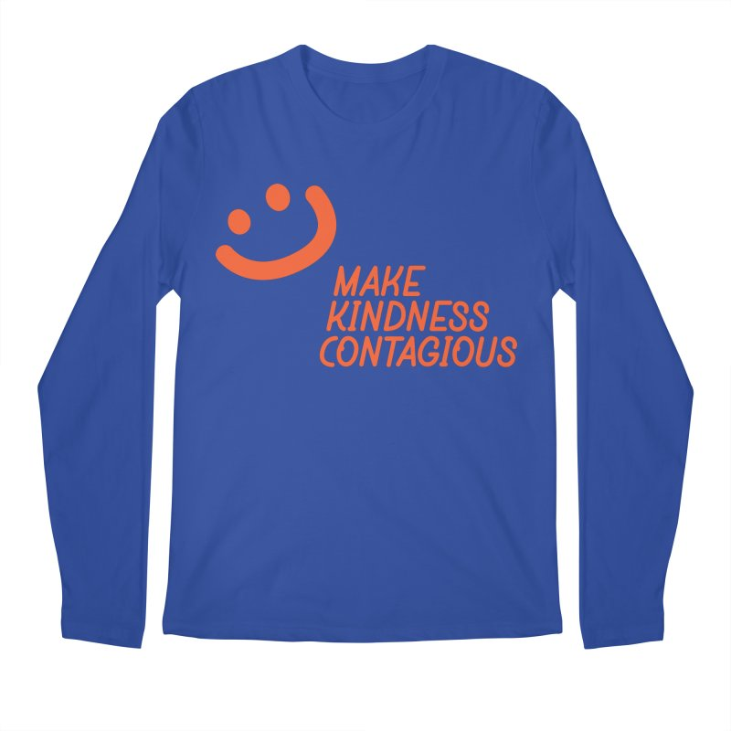 Simple Smile orange Men's Regular Longsleeve T-Shirt by MakeKindnessContagious's Artist Shop